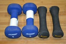 Jillian Michaels 3 lbs + REEBOK 5 lbs Dumbbell Free Weights Exercise Fitness