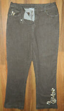 Womens Denim and Company Brand Brown Jeans with Flare Legs size Large / 32-34x30