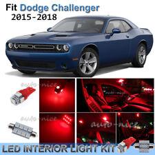 For 2015-2017 Dodge Challenger Brilliant Red Interior LED Lights Kit 13 Pieces