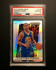 2013-14 PANINI PRIZM #176 Stephen Curry SILVER PRIZM PSA 10 GEM MINT RARE!