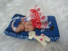 Polymer Clay Miniature Ooak Baby, Independence