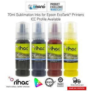 RIHAC Dye Sublimation Ink for Epson EcoTank ET-1110 ET-2710 ET-2720 4700 T522
