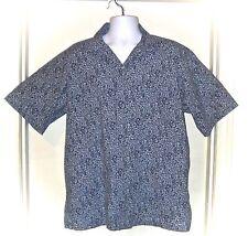 POLO Ralph Lauren Caldwell Short Sleeve Blue Floral Hawaiian Shirt 100% Cotton L