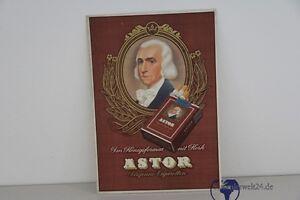alte org. Werbe Schild Pappe Astor Zigaretten Werbung