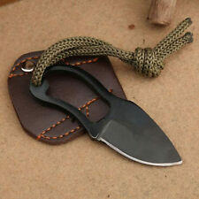 Hot! Mini Pocket Finger Paw Self-Defence Survival Fishing Neck Knife With Sheath