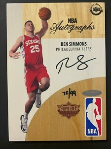 2016-17 Upper Deck UD Supreme Hard Court Ben Simmons 76ers RC Rookie AUTO 72/99