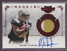 2011 Plates & Patches Mark Ingram On Card Auto 2 Color Patch Rc Serial # to 299