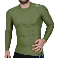 adidas TECHFIT™ Herren Kompression's Shirt Longsleeve Unterhemd armee grün oliv