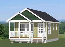 16x32 Tiny House -- 511 sq ft -- PDF Floor Plan -- Model 1A