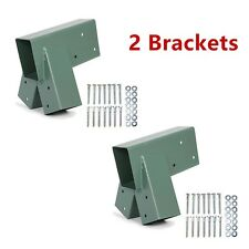 2 Brackets Heavy Duty Steel 1-2-3 A-Frame Swing Pair Set Green Powder-Coated