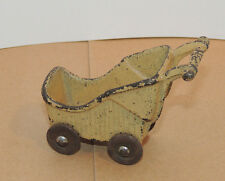 Cast Iron Toy Baby Carriage over 2 inches tall (9897)