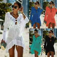 UK Summer Bikini Cover Up Sarong Dress Swimwear Kaftan Lace Crochet Beach Wear