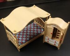 Tomy Vintage Smaller Home & Garden Dollhouse Furniture Bed, Dresser