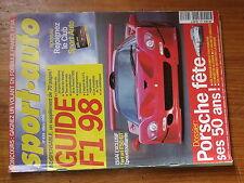 $$v Revue sport auto N°434 F1 1998  Ferrari F50 GT  50ans Porsche  Ferrari F300