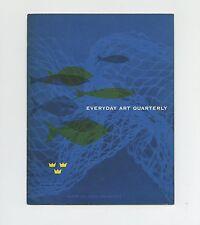 1952 Stig Lindberg EVERYDAY ART QUARTERLY Made in SWEDEN Exhibition David Smith