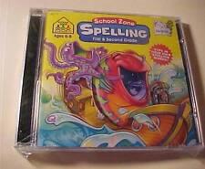 School Zone-Spelling - First & Second Grade-Cd Rom/Windows & Mac-Still Sealed!