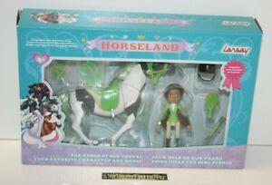 ++ figurine rosa alma et panache button / HORSELAND - LANSAY NEUF ++