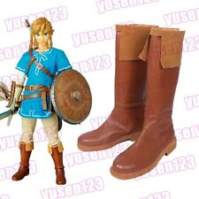 Game The Legend of Zelda Breath of the Wild Link Halloween Cosplay Boots Shoes