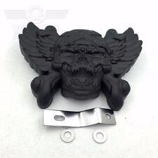 "Black Skull Horn Cover For 92-16 Harley w/Side Mount ""Cowbell"" All V-Rod's"