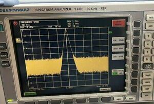 Rohde & Schwarz FSP30 20 Hz - 30 GHz Spectrum Analyzer Options B3 B4 B16