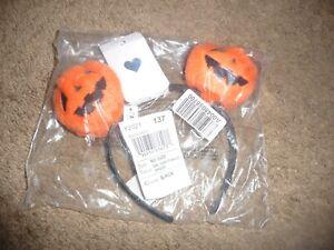 NEW NWT Childrens Place girls one size Halloween plush pumpkin headband