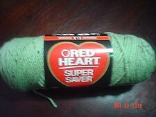 1 Skein of Red Heart Super Saver Worsted Yarn in Frosty Green Fleck