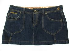 *BILLABONG* SIZE 5 WOMEN'S DENIM DARK BLUE 98%COTTON STRETCH MINI SKIRT