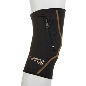Copper Fit™ Zip Knee Sleeve, Black XL New