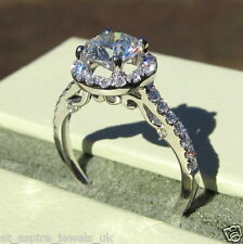 1.5ct Round Brilliant Cut Diamond Solitaire Engagement Ring Solid 14k White Gold