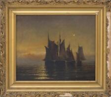AMERICAN SCHOOL, Massachusetts, Late 19th Century, Boats at sunset., ... Lot 811