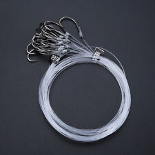 28 Pcs High Carbon Steel Fishing Hook Line Rod Barbed Hooks Sea Carp Tackle Us