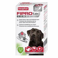 3 Separate TREATMEN Beaphar FIPROtec COMBO Flea Tick large dogs 3 treatment 2020