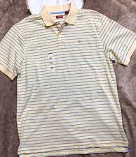 Izod Mens Polo Shirt Size XL Short Sleeves Dusty Citron Stripes Coast Oxford NWT
