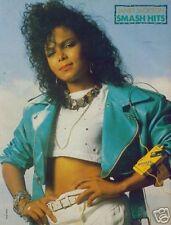 "JANET JACKSON blue leather magazine PHOTO / Pin Up /Poster 11x8"""