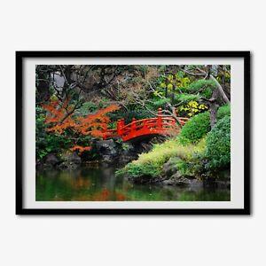 Tulup Bild MDF-gerahmte Wand-Dekor 100x70cm japanischer Garten