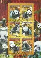 Timbres Animaux Pandas Guinée 3435/40 o année 2008 lot 10623 - cote : 15 €