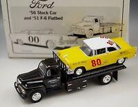 1956 FORD STOCK CAR & 1951 F-6 FLATBED FIRST GEAR #80 J.C WHITNEY 1/34 SCALE NIB