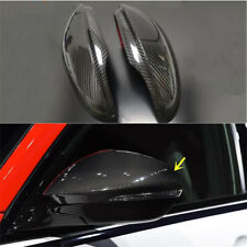 Carbon Fiber Car Side Rear View Mirror Cap Cover For Alfa Romeo Giulia 2017 2018