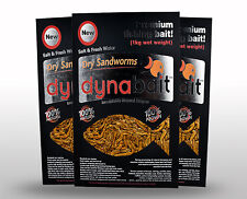 Dynabait Sand worms 1Kg x 3 (3kg wet weight, equals 90 small Dynabait satchels)