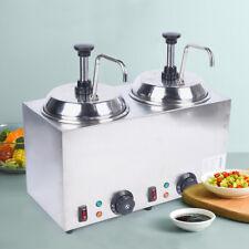 New Listingnacho Cheese Warmer Condiment Melter Hot Melted Butter Dispenser Pump 1600w