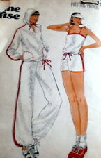 LOVELY VTG 1970s JACKET TOP PANTS SHORTS JANE TISE Sewing Pattern 12/34