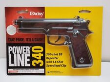 Daisy PowerLine 340 BB Gun Spring Air powered Pistol .177 200 SHOT REPEATER  NIB