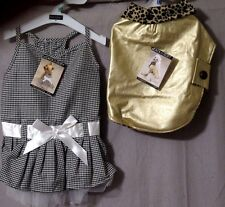 ZACK & ZOEY Goldie Coat (Small) or Gingham BLING RHINESTONE Dress (x-Small) BNWT