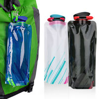 700ml Folding Collapsible Soft Flask Water Bottle BPA Free Runinng camping yoga