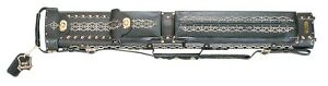 WIN LC24EN 2x4 Tooled Leather Pool Cue Case w/ FREE Shipping