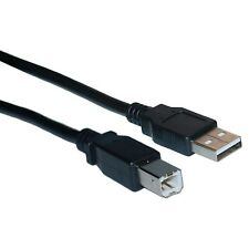 15 ft USB 2.0 AB Top Quality Black Device Cable PC/MAC