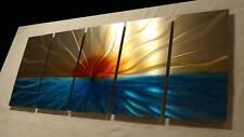 """Metal Wall Art painting wall Contemporary modern sculpture """"Handmade"""", Blue -"""