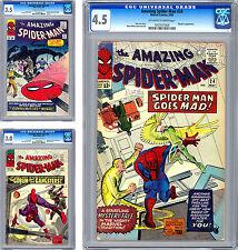 AMAZING SPIDER-MAN #22-23-24 CGC 3.5-3.0-4.5 GRN GOBLIN MYSTERIO SANDMAN 1965