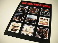 ROLLING STONES Promo Display Ad showing early album covers