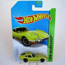 2014 Hot Wheels 192/250. YELLOW Toyota 2000 GT. HW All Stars.  New in Package!